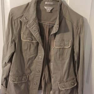 Small/ med Christopher and  banks khaki jacket